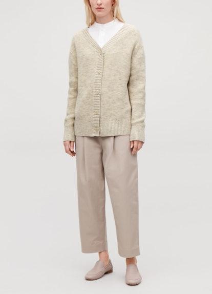Rib-Trimmed Cotton Cardigan