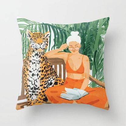 Jungle Vacay Throw Pillow