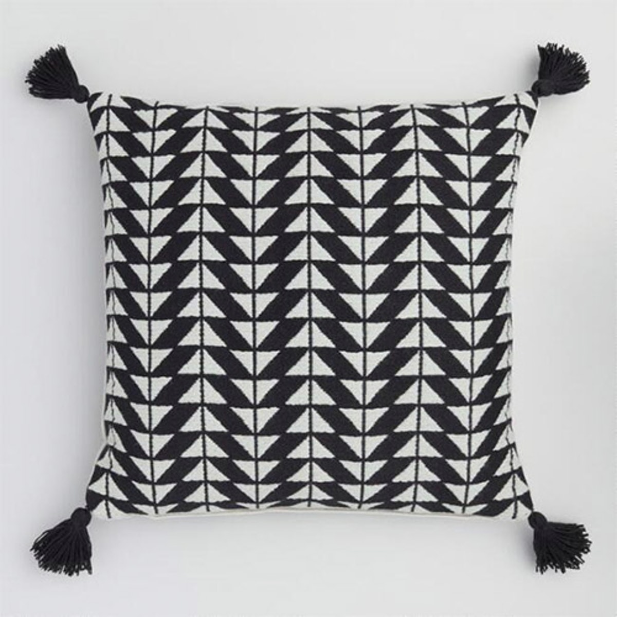 Black And White Arrow Indoor Outdoor Pillow