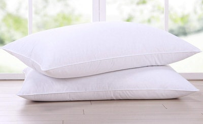 puredown Natural Goose Down Feather Pillow (2-Pack)