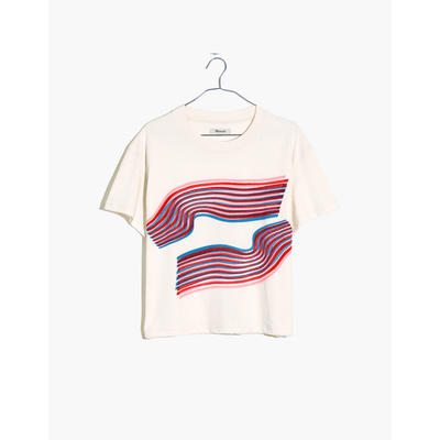 Madewell x Outdoor Voices Easy Crop Tee