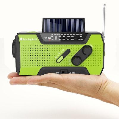RunningSnail Solar Crank Emergency Weather Radio