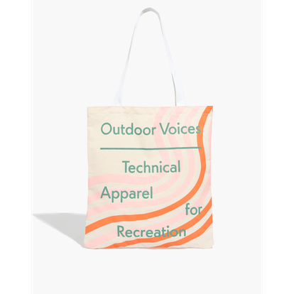 Madewell x Outdoor Voices Reusable Canvas Tote