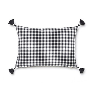 Caitlin Wilson Black Gingham Pillow