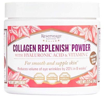 Reserveage Collagen Replenish Powder with Hyaluronic Acid & Vitamin C, 2.75 Oz