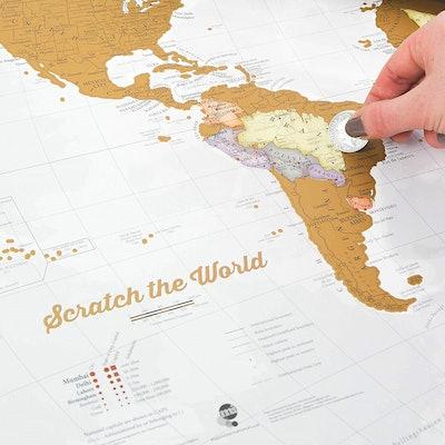 Maps International Scratch the World Print