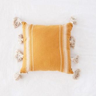 Ivy Fringe Striped Pillow