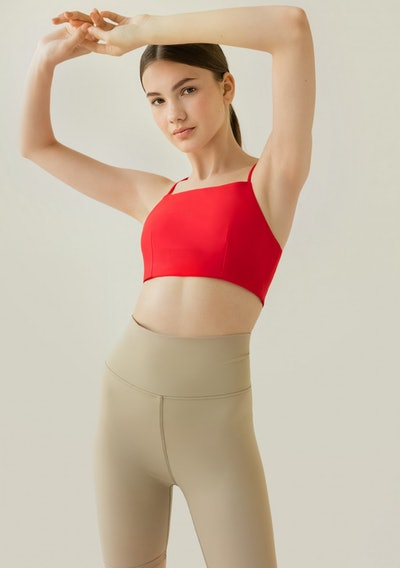 Sustainable Triangle Bra Red