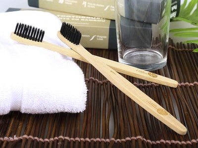 Lavish Essentials Bamboo Toothbrushes (2 Pack)