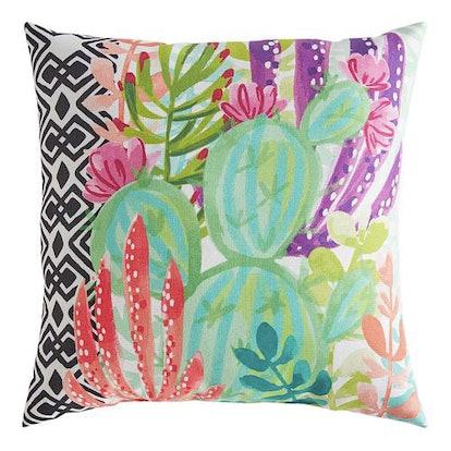 Modern Mixed Cactus Square Pillow