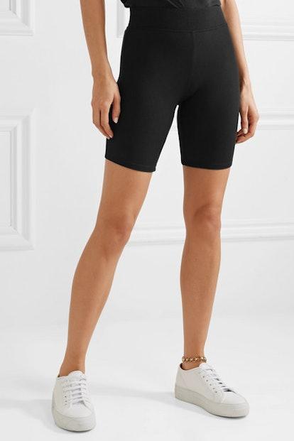Ribbed Stretch-Micro Modal Shorts
