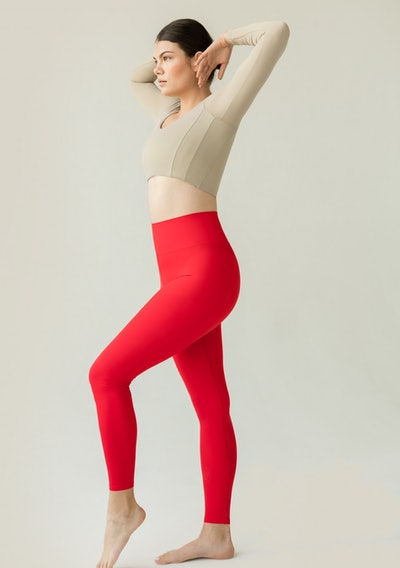 Sustainable Legging Red