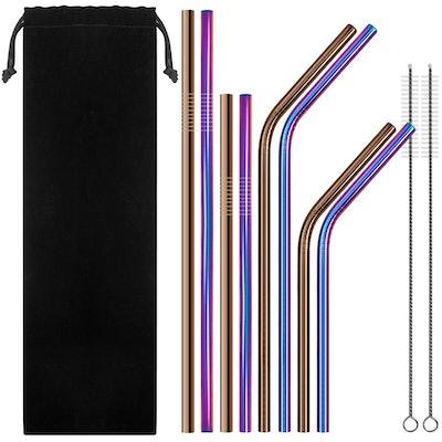 SENHAI Stainless Steel Drinking Straws (Set Of 8)