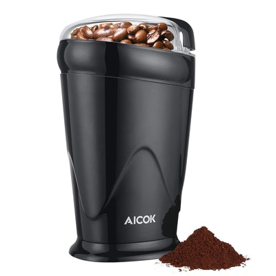 Aicok One Button Portable Coffee And Spice Grinder