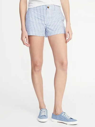 Mid-Rise Twill Everyday Shorts
