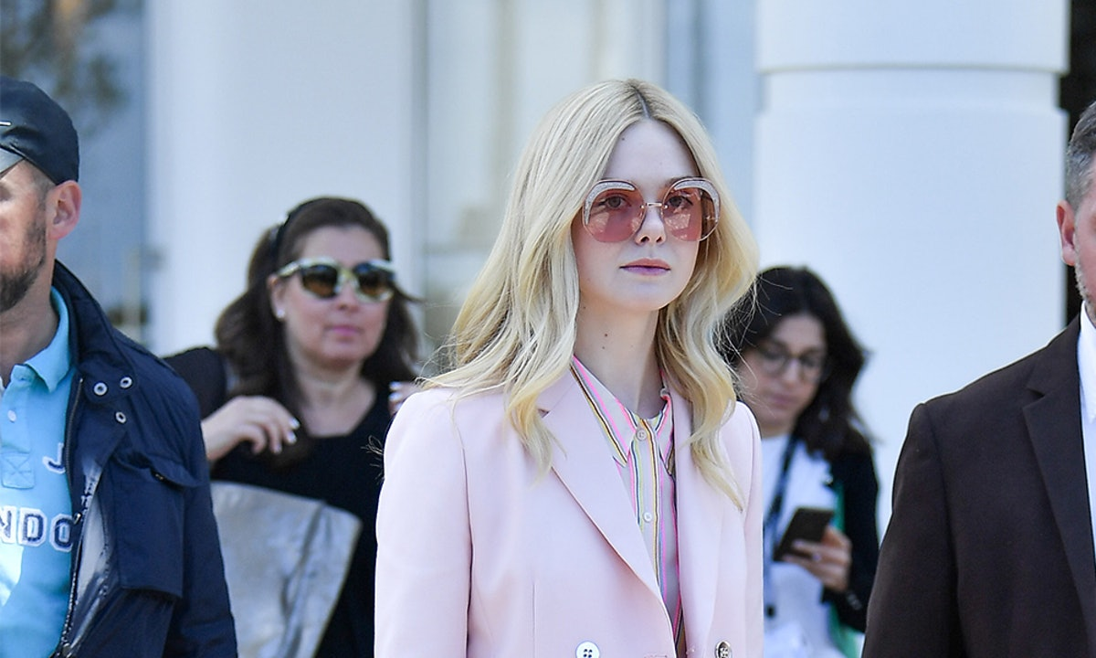 Elle Fanning's Pink Suit Will Inspire Your Spring Color Palette