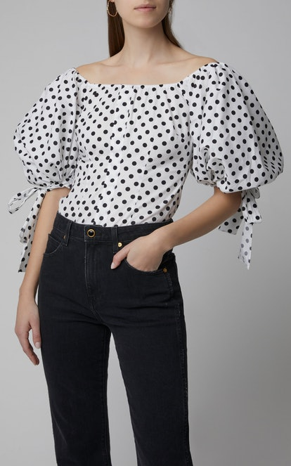 Nella Puff-Sleeve Off-the-Shoulder Top
