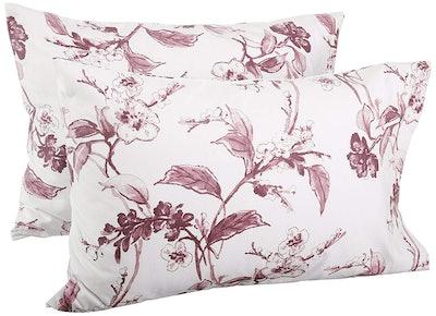 Pinzon Signature 190-Gram Cotton Heavyweight Velvet Flannel Pillowcases, Standard Size
