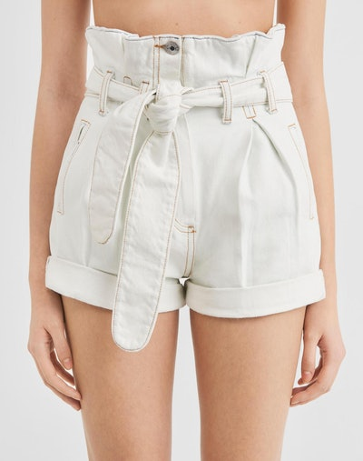 Pleated 80s High Rise Short