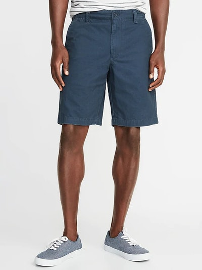 Straight Lived-In Khaki Shorts for Men
