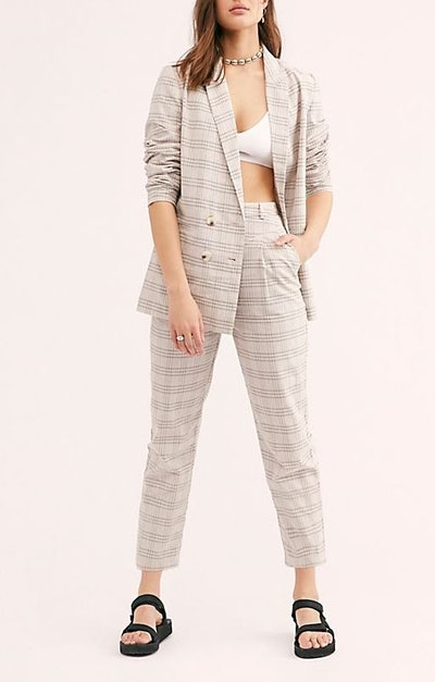 Violet Check Suit