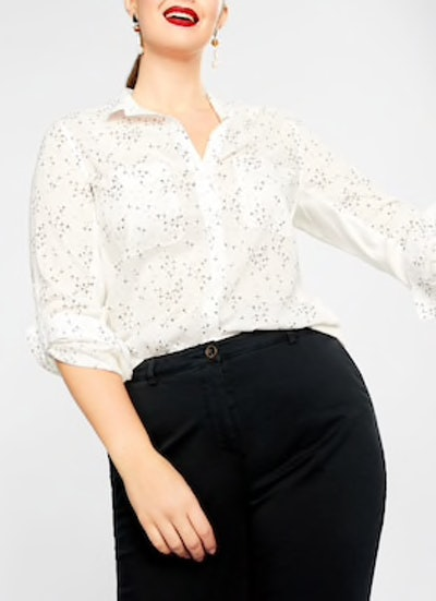 Chest-Pocket Printed Shirt