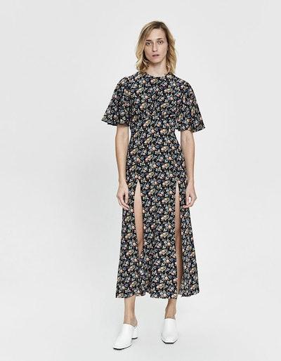 Flutter Sleeve Long Dress