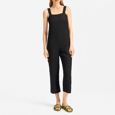 The Linen Jumpsuit in Washed Black