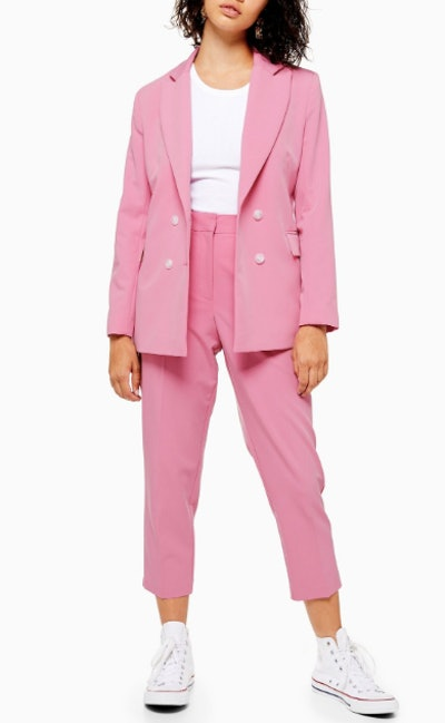 Petite Pink Suit Trousers