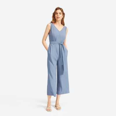 The Japanese GoWeave Essential Jumpsuit in Dusty Blue