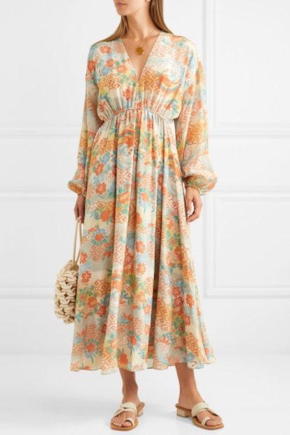 Norma Printed Silk Maxi Dress