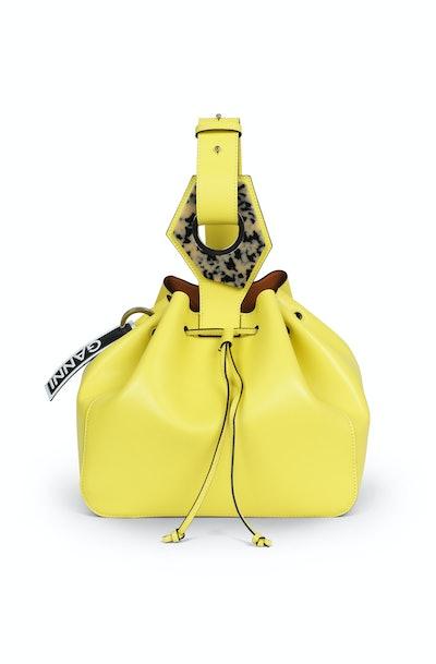 Leather Large Drawstring Bag