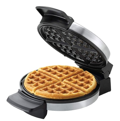 BLACK+DECKER Belgian Waffle Maker, Stainless Steel