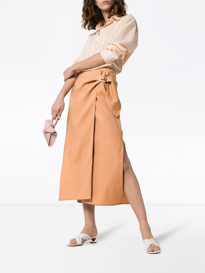 High-Waisted Wrap Skirt