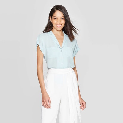 Short Sleeve Collared Neck Resort Shirt