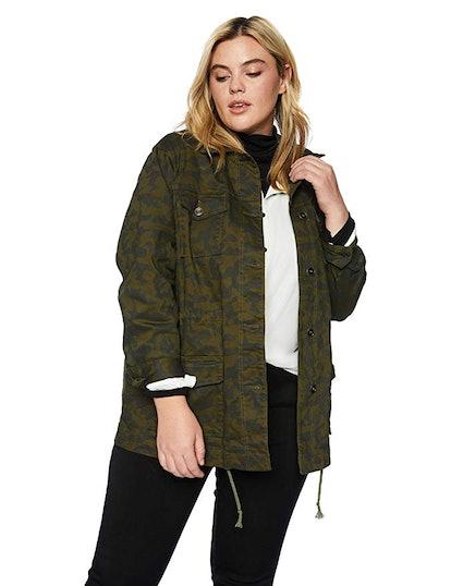 Skye's the Limit Women's Plus Size Camouflage Cargo Jacket