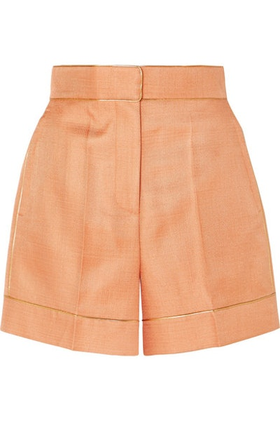 Peter Pilotto Metallic-Trimmed Twill Shorts