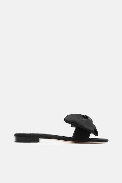 Newbark Eva Bow Front Slide - Black