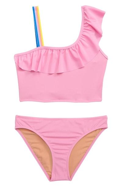 Ruffled One-Shoulder Swimsuit