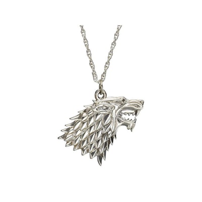 House Stark Sterling Silver Wolf Sigil Pendant