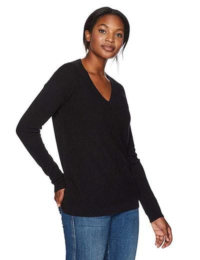 Lark & Ro Cashmere V-Neck Sweater