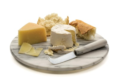 RSVP Marble Cheese Board and Knife