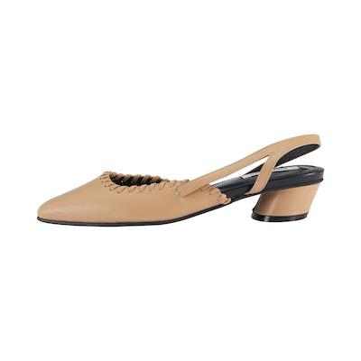 Asymmetry Low Heel Slingback / RK1-SH075