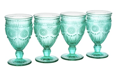The Pioneer Woman Adeline Embossed Goblets