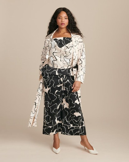 Yigal Azrouel Ocean Crest Printed Twill Robe