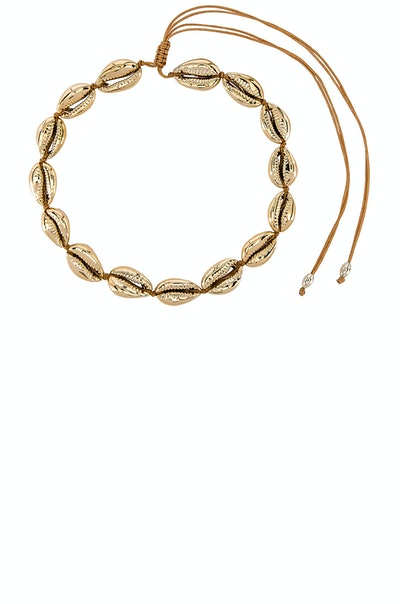 Single Gold Puka Choker