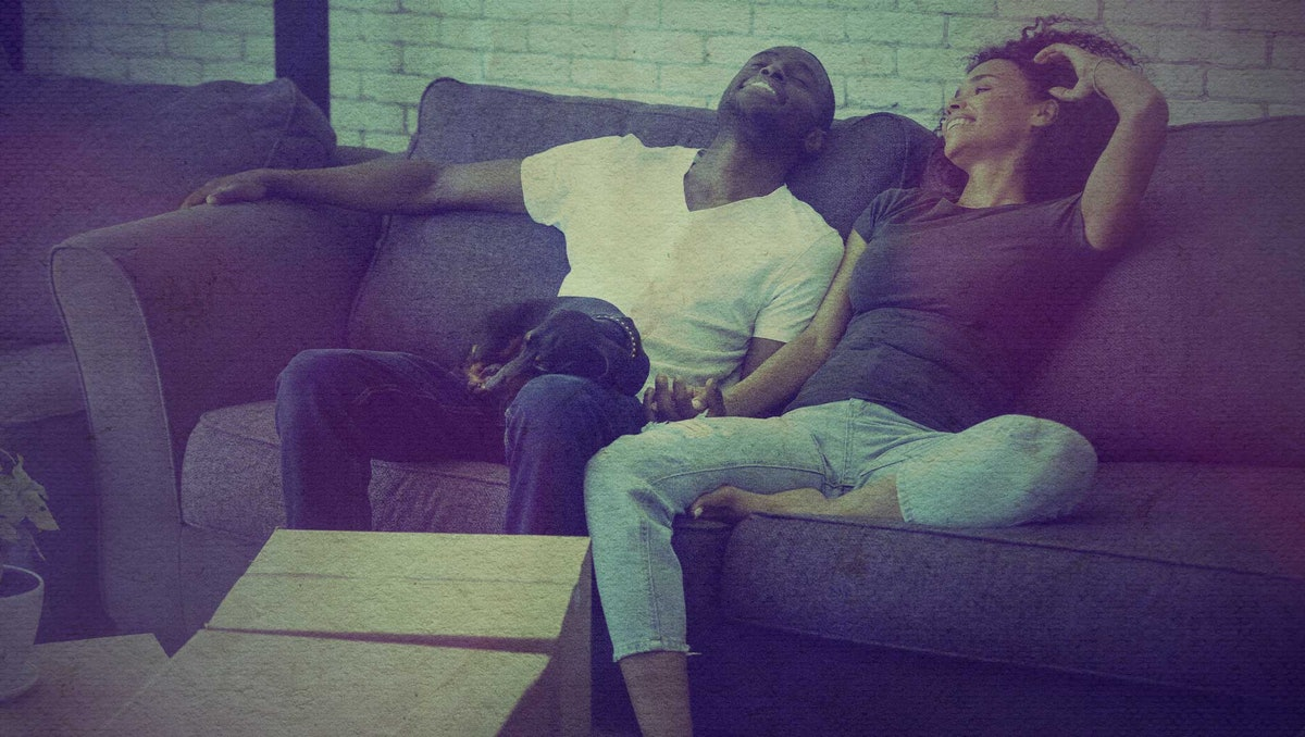 Conversations to have before moving in with your partner include how to split rent and get alone time