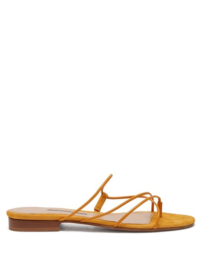 Chris Leather And Suede Sandals