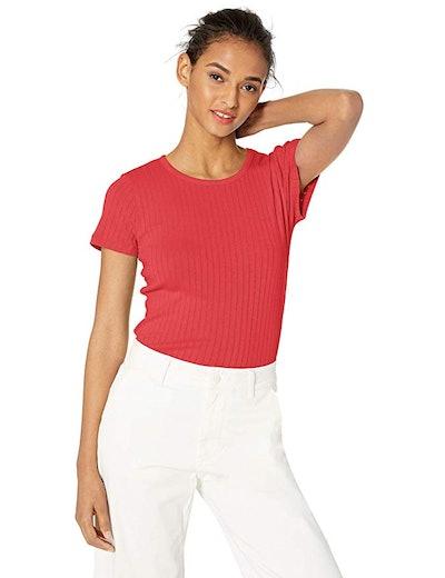 J.Crew Mercantile Women's Short-Sleeve Ribbed Crewneck T-Shirt