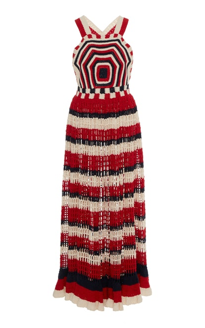 Paz Crocheted Cotton Midi Dress